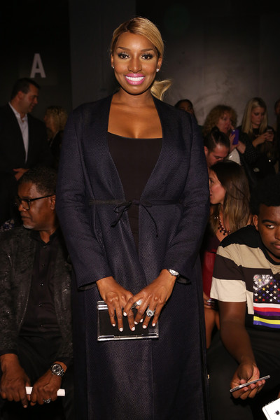 TV personality NeNe Leakes attends the Zang Toi fashion show during Spring 2016 New York Fashion Week: The Shows at The Dock, Skylight at Moynihan Station on September 11, 2015 in New York City.