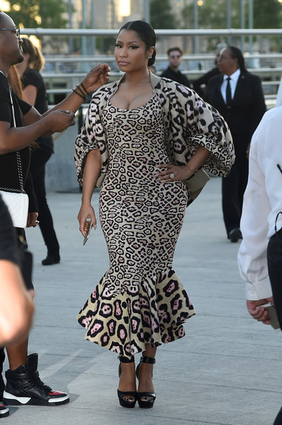 Rapper Nicki Minaj attends the Givenchy fashion show during Spring 2016 New York Fashion Week at Pier 26 at Hudson River Park on September 11, 2015 in New York City
