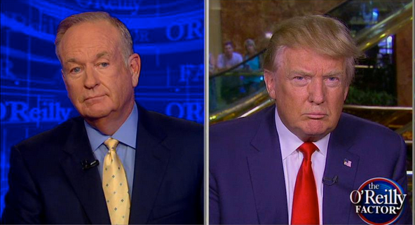 Bill O'Reilly (L) and Donald Trump