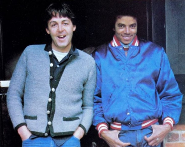 Paul McCartney and Michael Jackson looked like school chums in this photo