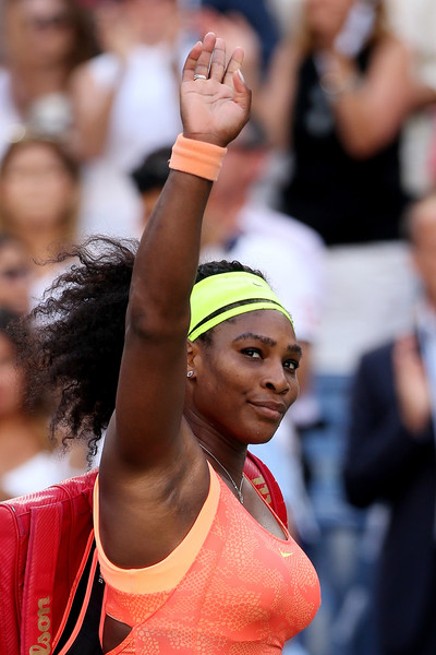 Serena Williams of the United States walks off of the court after loosing to Roberta Vinci of Italy during their Women's Singles Semifinals match on Day Twelve of the 2015 US Open at the USTA Billie Jean King National Tennis Center on September 11, 2015 in the Flushing neighborhood of the Queens borough of New York City
