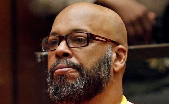 "FILE - In this July 7, 2015, file photo, Marion Hugh ""Suge"" Knight sits for a hearing in his murder case in Los Angeles Superior Court. Knight is scheduled to return to a Los Angeles court on Thursday, Sept. 17, 2015, for a hearing in which prosecutors are expected to lay out evidence to support a robbery charge filed against the former rap music mogul and comedian Katt Williams, who are charged with a stealing a photographer's camera in Beverly Hills in September 2014. (Patrick T. Fallon/Pool Photo via AP, File)"