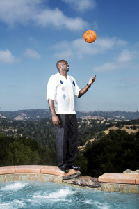 Retired professional basketball player, Adonal Foyle, photographed in his home in Orinda, California.(Photo by Gabriela Hasbun)
