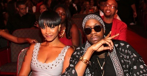 Rapper 2 Chainz (R) and Nakesha Ward attend the BET Hip Hop Awards 2014 at Boisfeuillet Jones Atlanta Civic Center on September 20, 2014 in Atlanta, Georgia.