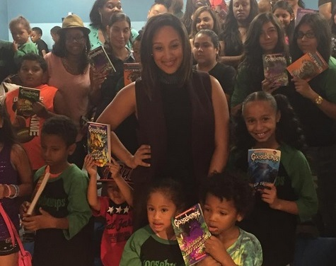 "Tamera Mowry-Housely  at Inglewood Public Library for ""Goosebumps"" reading corner"
