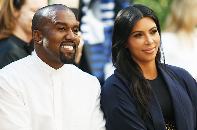 Kanye West and Kim Kardashian at Chateau Marmont on October 20, 2015 in Los Angeles