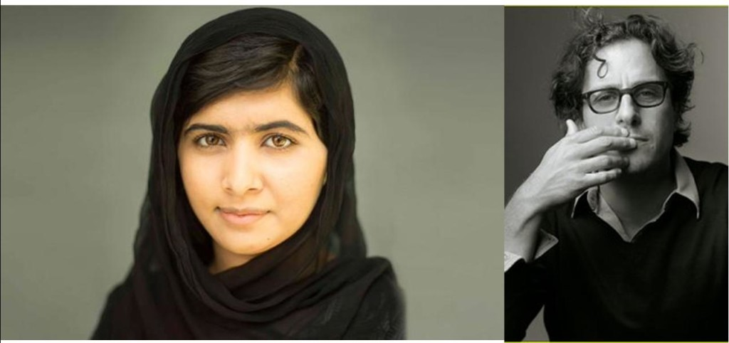 Malala Youssafzai, the youngest Noble Peace Prize winner, and Director Davis Guggenheim of the Fox Searchllght documentary of her life, He Named Me Malala.