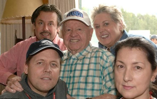 Mickey Rooney and familyR