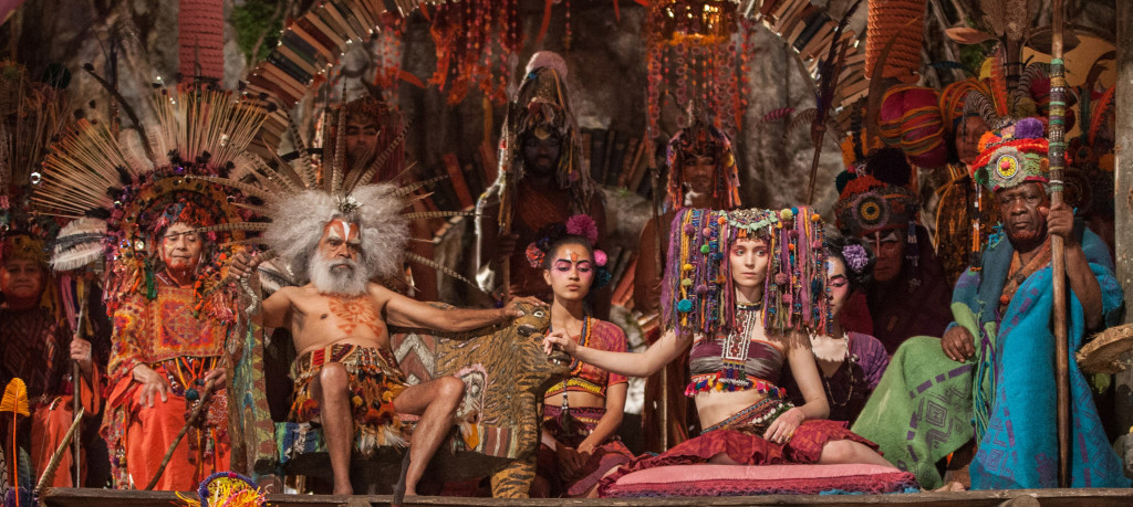 Rooney Mara as Tiger Lily and crew in Warner Bros. Pictures' PAN.