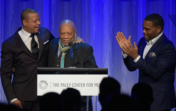 (L-R): Terrence Howard, Quincy Jones and Anthony Anderson at The Paley Center for Media's Hollywood Tribute to African-American Achievements in Television, Photo credit: The Paley Center for Media