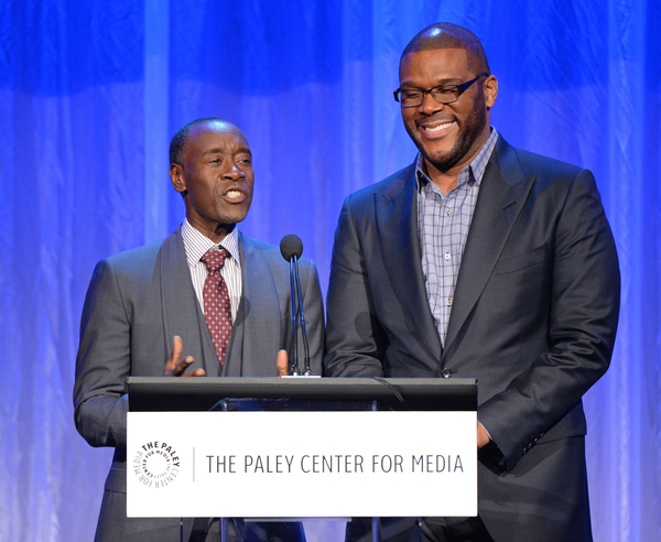 (L-R): Don Cheadle and Tyler Perry at The Paley Center for Media's Hollywood Tribute to African-American Achievements in Television, Photo credit: The Paley Center for Media
