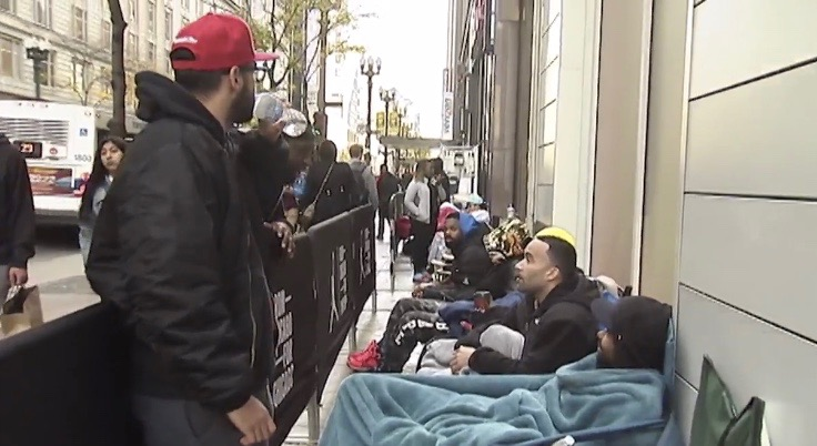 People Camping Out at Nike s New Jordan-Only Store in Chicago  2d7ff1473