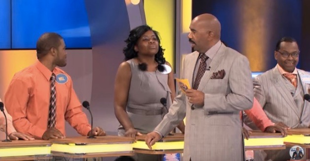 "Steve Harvey brings his other daytime gig ""Family Feud"" to ""The Steve Harvey Show"""