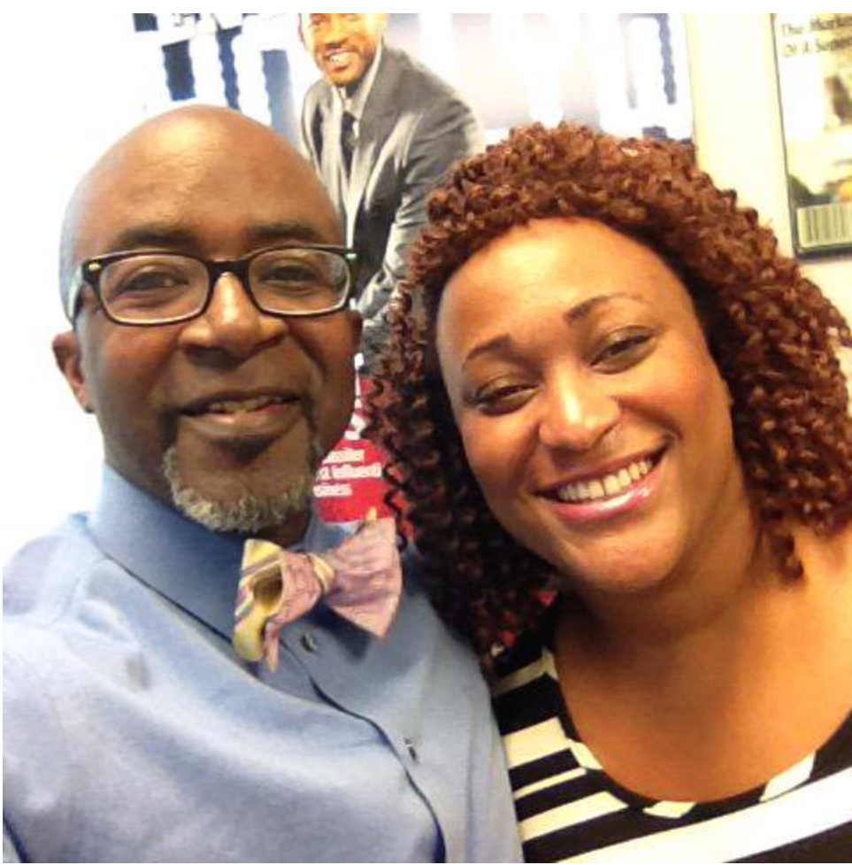 Camille Newman with mentor Alfred Edmond Jr., Senior Vice President/Chief Content Officer of Black Enterprise.