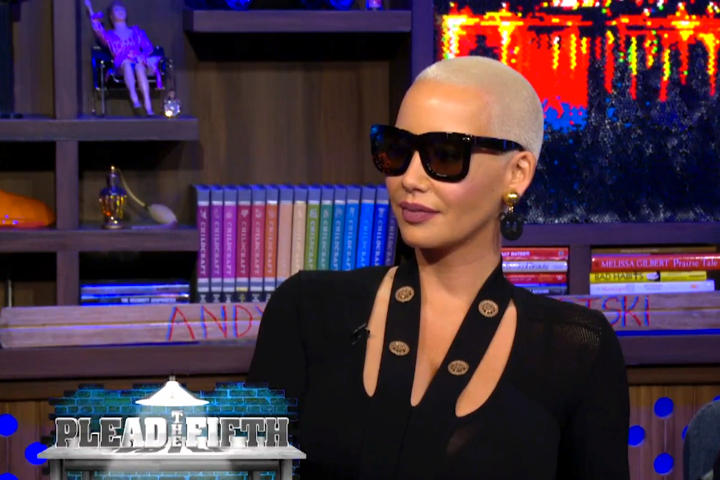 """Amber Rose plays """"Plead the Fifth"""" on Bravo's """"Watch What Happens Live"""" (Oct. 25, 2015)"""