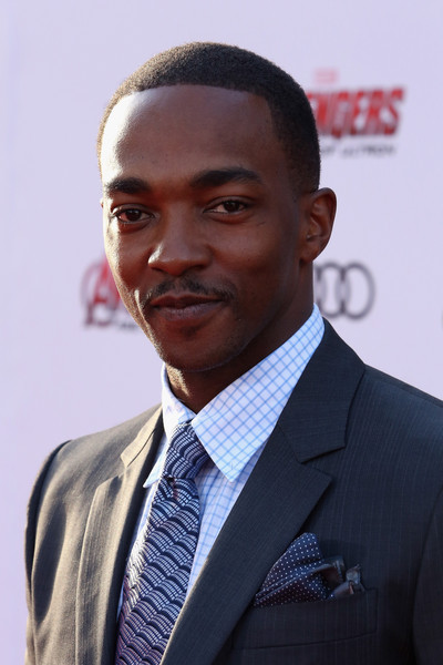 """Actor Anthony Mackie attends the world premiere of Marvel's """"Avengers: Age Of Ultron"""" at the Dolby Theatre on April 13, 2015 in Hollywood, California."""