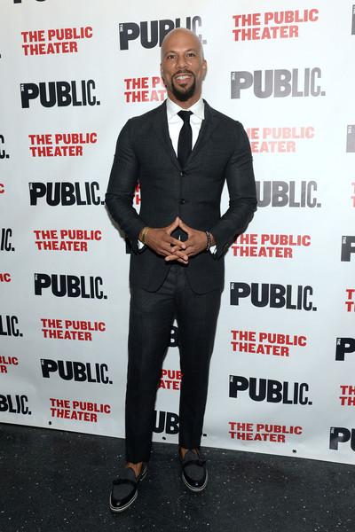 """Hip-hop artist Common attends """"Eclipsed"""" Opening Night at The Public Theater on October 14, 2015 in New York City."""