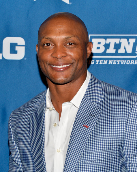 Football player Eddie George attends The Big Ten Network Kick Off Party at Cipriani 42nd Street on June 26, 2014 in New York City
