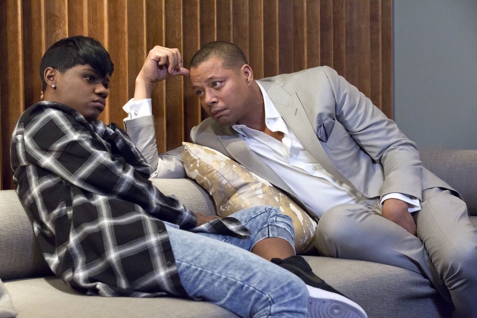 "Bre-Z (Freda) and Terrence Howard (Lucious Lyon) appear in this photo from the ""Be True"" episode of Fox's ""Empire."""