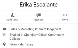 erika escalante job info