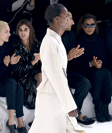 Janet Jackson (R) attends Hermes 2016 Spring/Summer ready-to-wear collection fashion show, on October 5, 2015 in Paris.