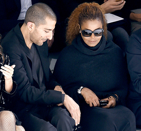 Janet Jackson and husband Wissam Al Mana attend Hermes 2016 Spring/Summer ready-to-wear collection fashion show, on October 5, 2015 in Paris.