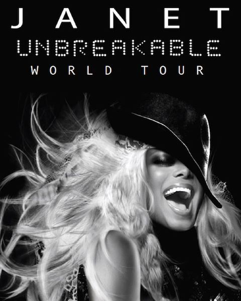janet jackson (unbreakable tour poster)