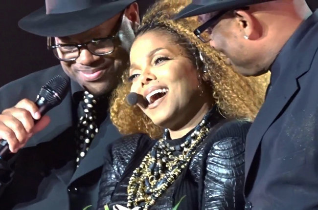 JImmy Jam, Terry Lewis surprises Janet Jackson on stage in Inglewood, CA