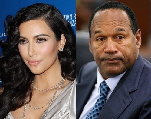 Kim Kardashian and O.J. Simpson