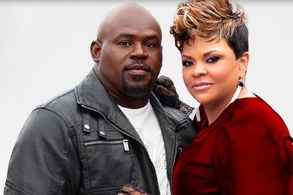 Tamela Mann with her husband David Mann