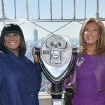 Patti LaBelle and Denise Rich Light Empire State Building