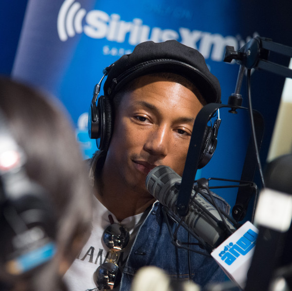 Pharrell Visits Bevy Smith's 'Bevelations' On Andy Cohen's SiriusXM Channel Radio Andy In The SiriusXM Studios at SiriusXM Studio on September 12, 2015 in New York City