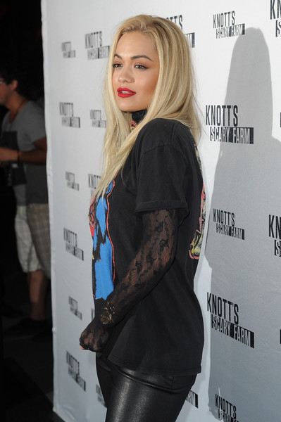Rita Ora arrives at Knott's Scary Farm on October 1, 2015 in Buena Park, California