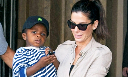 Sandra Bullock with Son Louis