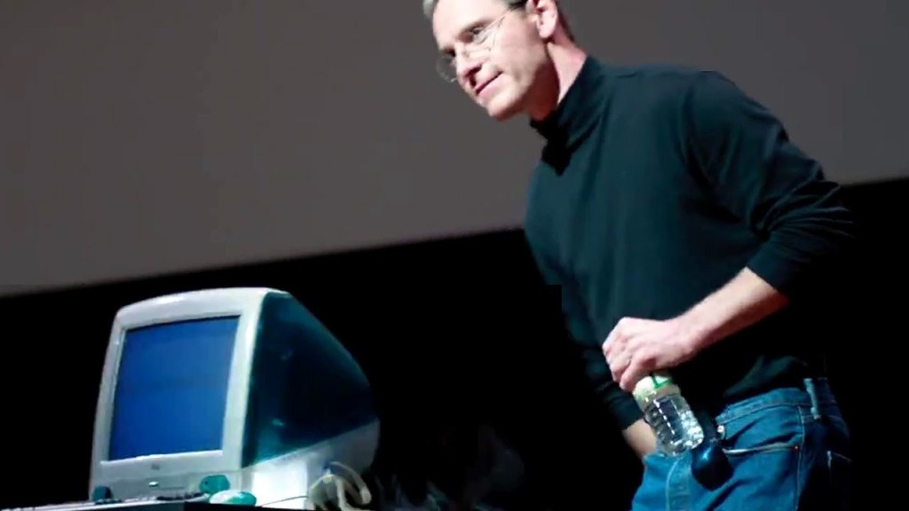 Michael Fassbender is Steve Jobs n the Universal Picture presentation.