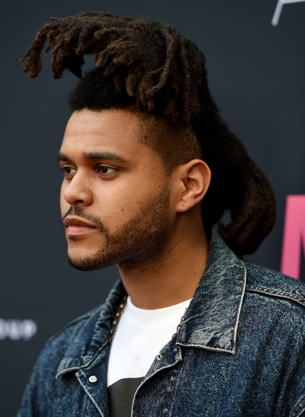 """Musician The Weeknd arrives at the premiere of A24 Films """"Amy"""" at ArcLight Cinemas on June 25, 2015 in Hollywood, California"""
