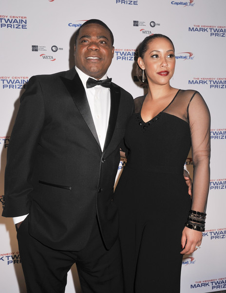 Tracy Morgan and wife Megan Wollover pose on the red carpet during the 18th Annual Mark Twain Prize For Humor honoring Eddie Murphy at The John F. Kennedy Center for Performing Arts on October 18, 2015 in Washington, DC.