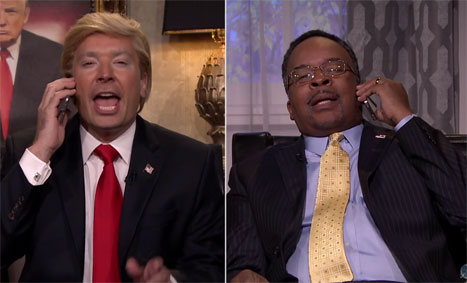 Jimmy Fallon and David Alan Grier are Donald Trump and Ben Carson on The Tonight Show