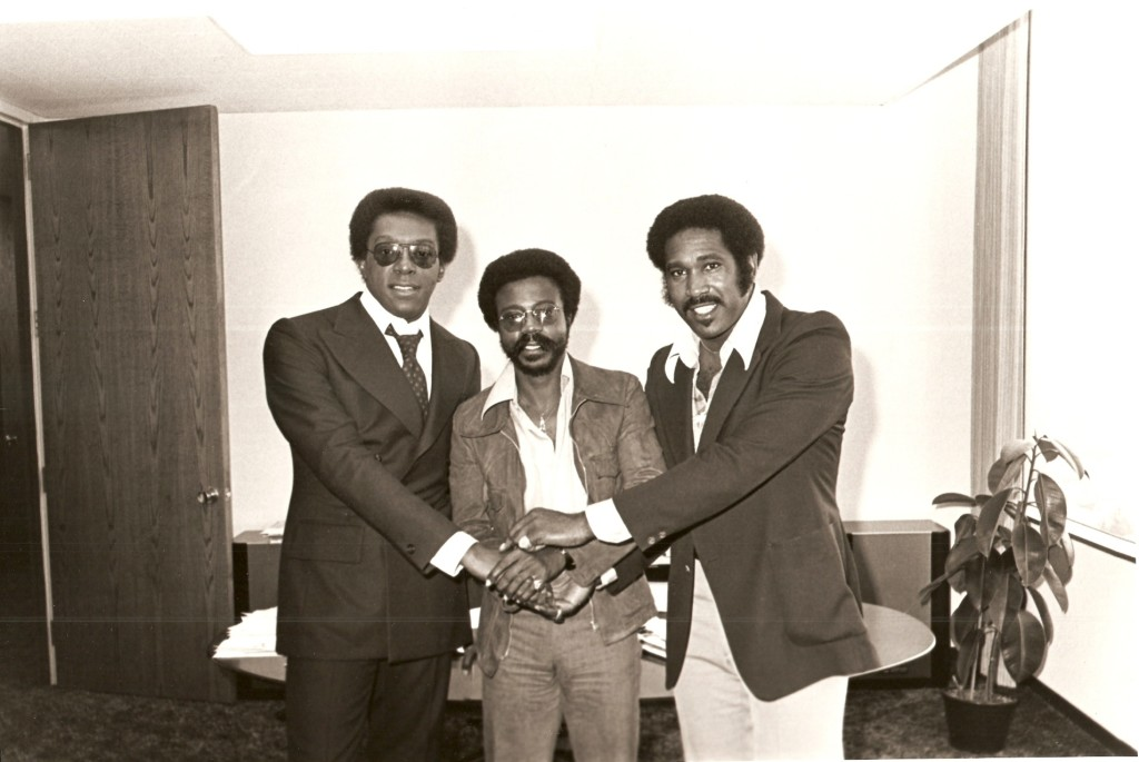 Archive photo of Don Cornelius, Logan Westbrooks & Dick Griffey.  A few of the many ground breaking legends who built the  black music empire in America and around the world.  Westbrooks latest is The Anatomy of the Music Industry from Ascent Publishing Oct. 2015