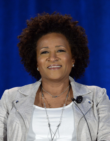 "Executive producer Wanda Sykes speaks during a panel discussion of reality television talent show ""Last Comic Standing"" during NBCUniversal Summer Press Day April 2, 2015, in Pasadena, California"
