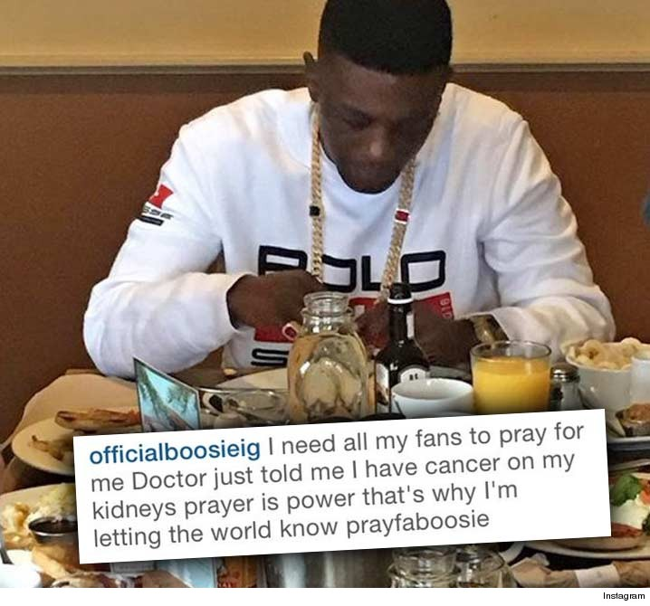 Lil Boosie in Instagram post announcing his kidney cancer. It has since been deleted.