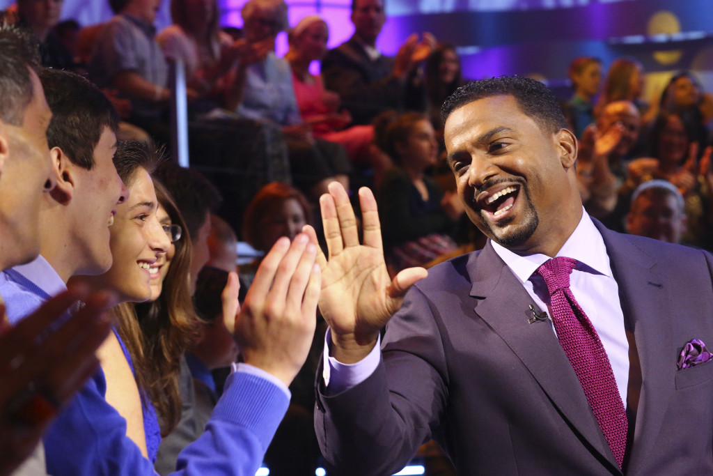 """AMERICA'S FUNNIEST HOME VIDEOS - """"Episode 2601"""" -- """"America's Funniest Home Videos,"""" the longest-running primetime show in ABC history, returns with new host Alfonso Ribeiro (""""Dancing with the Stars,"""" """"The Fresh Prince of Bel-Air"""") on SUNDAY, OCTOBER 11 (7:00-8:00 p.m., ET) on the ABC Television Network. The video highlights in the season 26 premiere episode include a package of """"Animal Encounters"""" complete with an affectionate seal who jumps into a man's kayak to snuggle, a dolphin who gives a woman climbing into a boat a playful nudge, a sneaky raccoon is caught on camera climbing into the house through a doggy door to steal the dog's food, a woman finds a possum underneath her bed, and a practical joke is played on a group of teens who bite into caramel onions rather than apples. (ABC/Michael Ansell) ALFONSO RIBEIRO"""