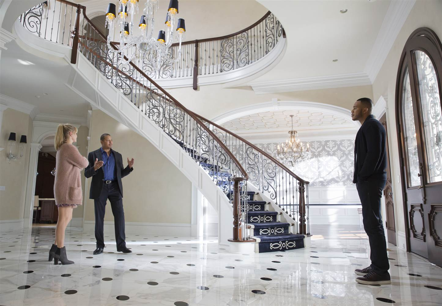 """Kaitlin Doubleday, Terrence Howard and Trai Byers in """"Empire"""""""