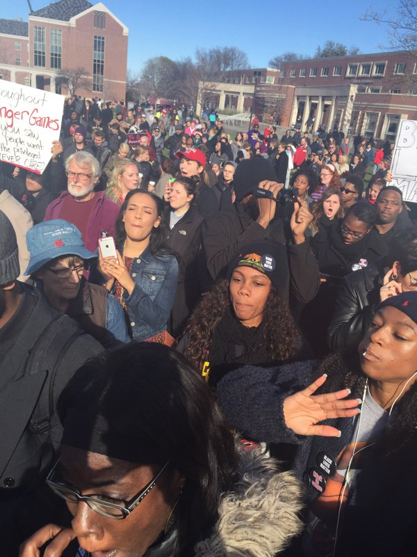 Black Lives Matter rally at the University of Nebraska-Lincoln (Nov. 19, 2015)