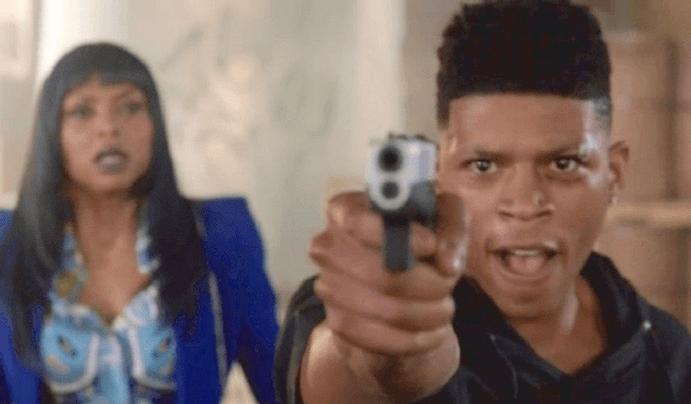 Taraji P. Henson (Cookie) and Bryshere Gray (Hakeem) in a scene from Empire (Season 2, Episode 6)