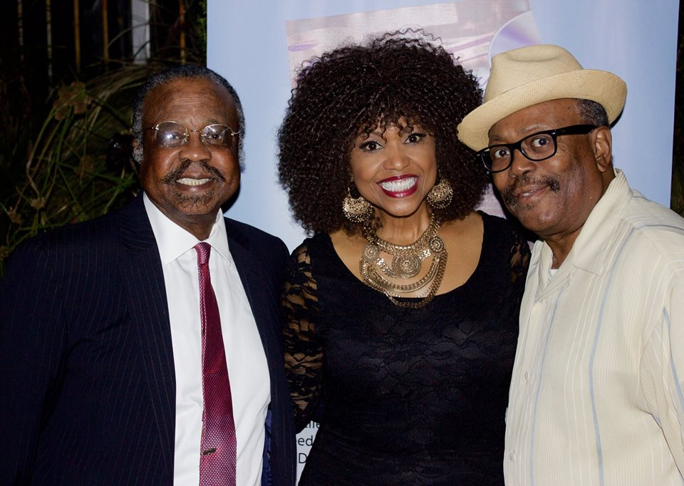 Former music exec, author and educator Dr. Logan H. Westbrooks, Grammy nominated Stephanie Spruill & EURweb publisher Lee Bailey. Photo credit: Robyn Carmona
