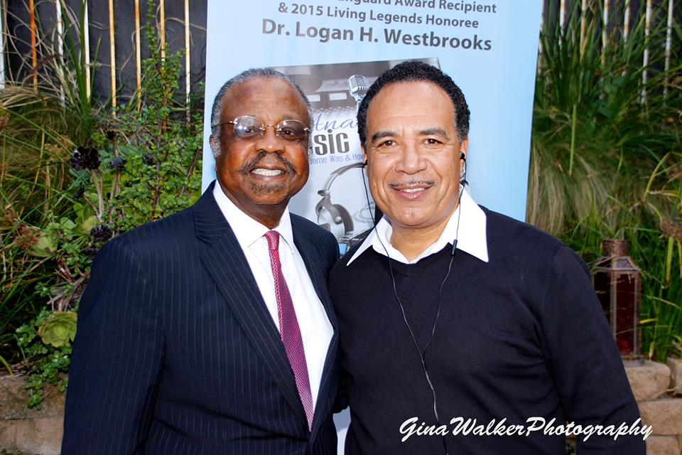 "Dr. Logan H. Westbrooks and Club Nouveau's Jay King. Music moguls who helped build the real music empire. Get the story in ""The Anatomy of the Music Industry"" 2015 Ascent Publishing Photo credit: Gina Walker"