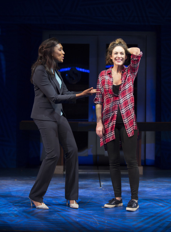 "Nia Whitaker (L) and Alison Luff (R) star in ""Breaking Through"" at Pasadena Playhouse. Courtesy Jim Cox Photography"