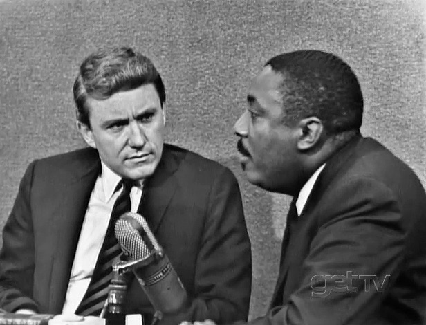 Merv Griffin and Dick Gregory