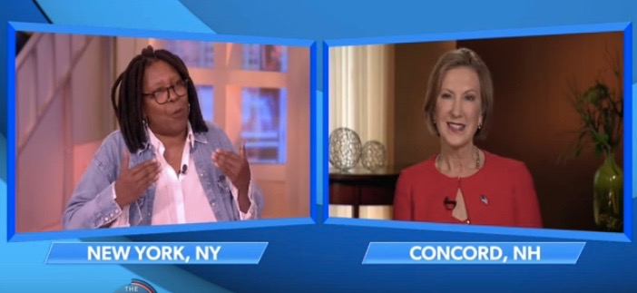 """Whoopi Goldberg and Carly Fiorina on """"The View"""" (Nov. 6, 2015)"""